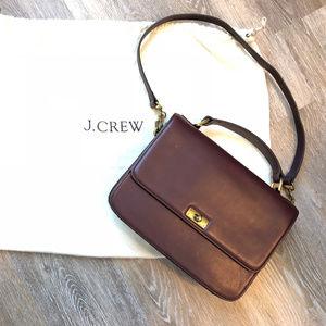 J. Crew Edie Purse- Casablanca Burgundy